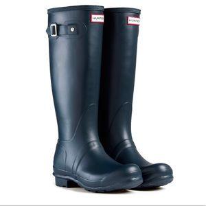 New Hunter Original Tall Wellington Boots (Navy)